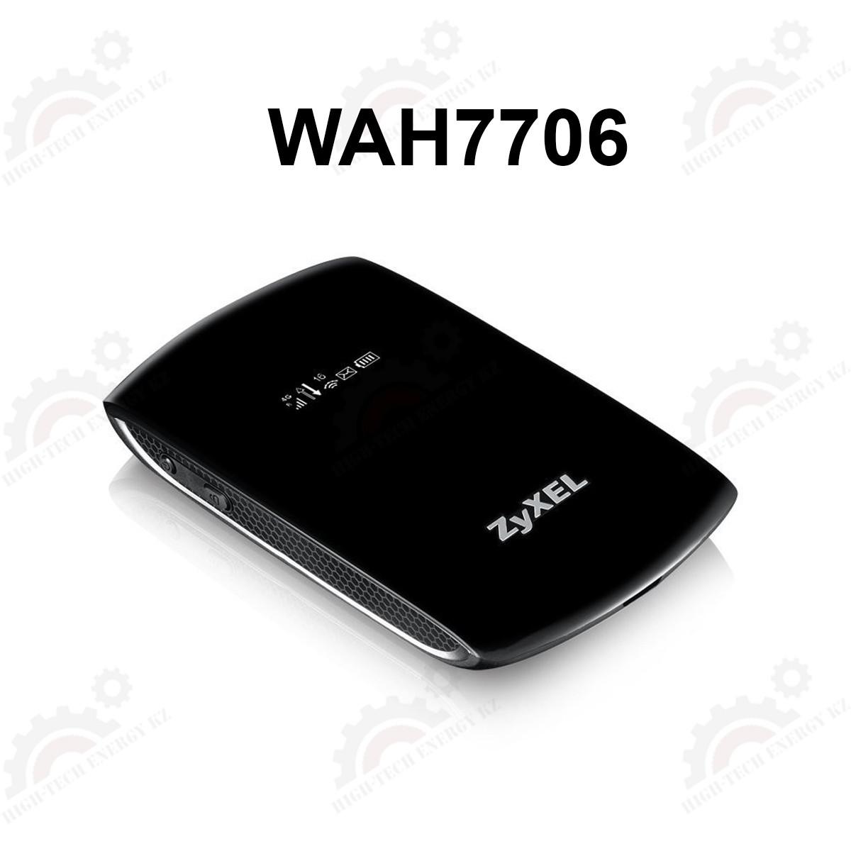 Портативный LTE Cat.6 Mi-Fi маршрутизатор ZYXEL WAH7706 (вставляется сим-карта)
