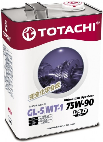 Трансмиссионное масло TOTACHI ULTIMA LSD SYN-GEAR 75W-90 GL-5/MT-1 4L