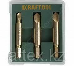 Набор экстракторов KRAFTOOL для выкручивания крепежа с износом граней шлица до 95%.PH1/PZ1,PH2/PZ2,PH3/PZ3,3 п