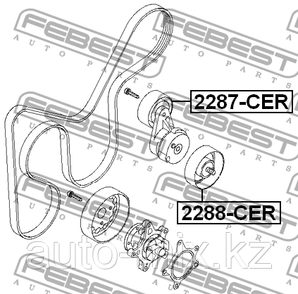 Ролик обводной - 25286-2B010 - 2288-CER - фото 3