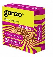 """Презервативы """"GANZO"""" LONG LOVE"""" №3 (пролонгирующие), 3 штуки"""