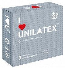 """Презервативы """"UNILATEX DOTTED"""" с точечной поверхностью, 3 штуки"""