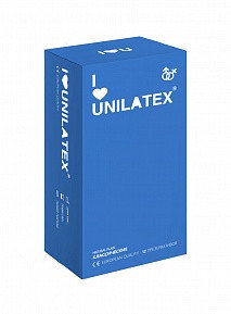 "Презерватив ""UNILATEX NATURAL PLAIN"", классические, 12 штук + 3 в подарок"