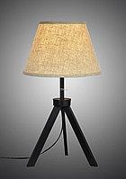 Современная настольная лампа белая с абажуром