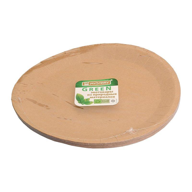 Тарелка d 230мм, крафт, картон, 12 шт