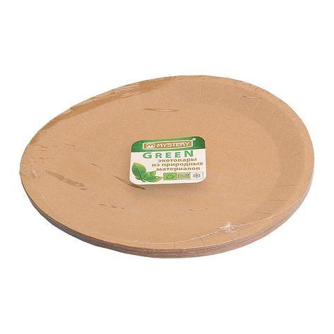 Тарелка d 230мм, крафт, картон, 12 шт, фото 2