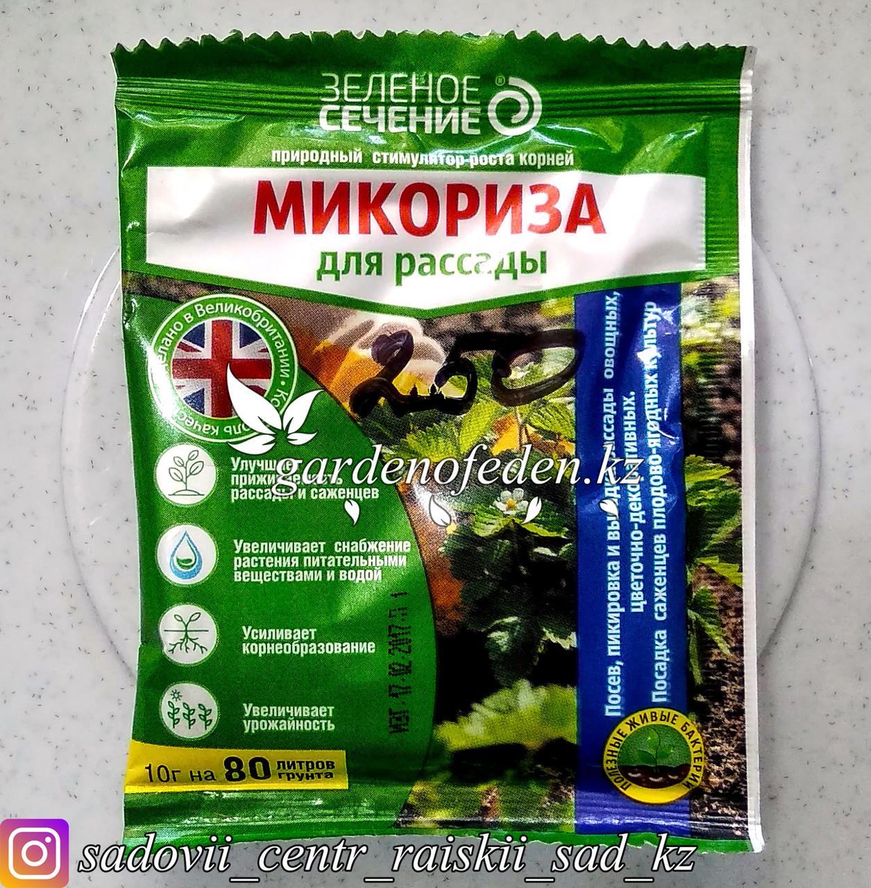 """Средство для рассады Зеленое сечение """"Микориза"""", 10 гр."""