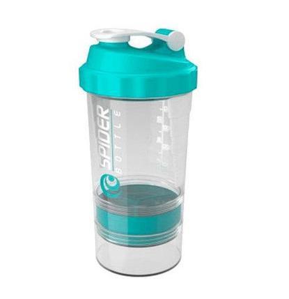 Бутылка-шейкер спортивная с чашкой и поилкой SPIDERBOTTLE (Голубой), фото 2