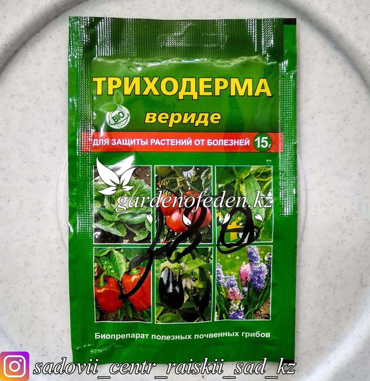 """Средство  для защиты растений от болезней """"Триходерма Вериде"""", 15 г."""