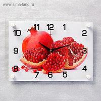 """Часы настенные, серия: Кухня, """"Гранат"""", 25х35 см, микс"""