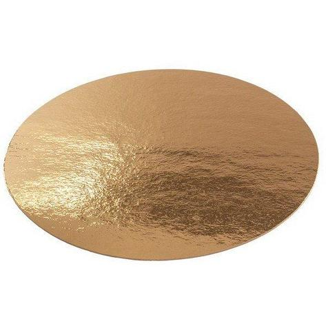 Подложка золото D 220 мм ( Толщина 0,8 мм )*100 шт/упак, фото 2