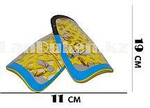 Футбольные щитки под гетры с силиконовой сеткой без резинок, желтые
