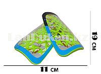 Футбольные щитки под гетры с силиконовой сеткой без резинок, зеленые