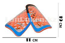 Футбольные щитки под гетры с силиконовой сеткой без резинок, оранжевые