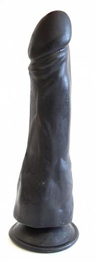 Фаллоимитатор реалистик на присоске, L 18.5 см D 4.0 - 5.0 см, цвет чёрный, ПВХ