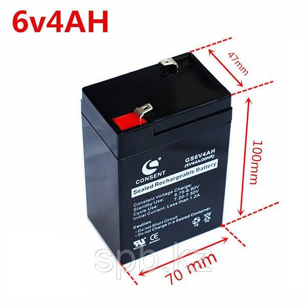 Аккумуляторная батарея 6V4Ah