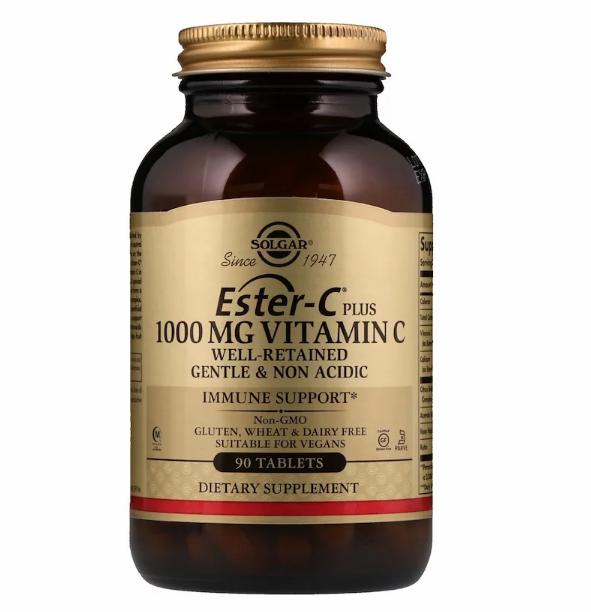 Solgar, Ester-C Plus, 1000 мг витамина С, 90 таблеток