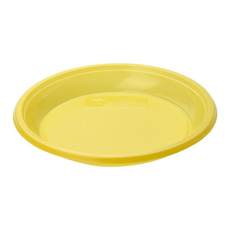 Тарелка дес., d 167мм, жёлт., ПС, 1600 шт