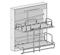 """Механизм двухъярусная шкаф кровать """"Twin Flip"""" - код GK-51, фото 1"""