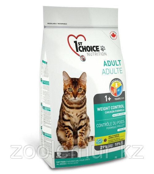 1st Choice «Контроль Веса» с курицей - для кастрированных и стерил. кошек от 1 года 10кг