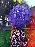 Зонт летний матерчатый  ажур