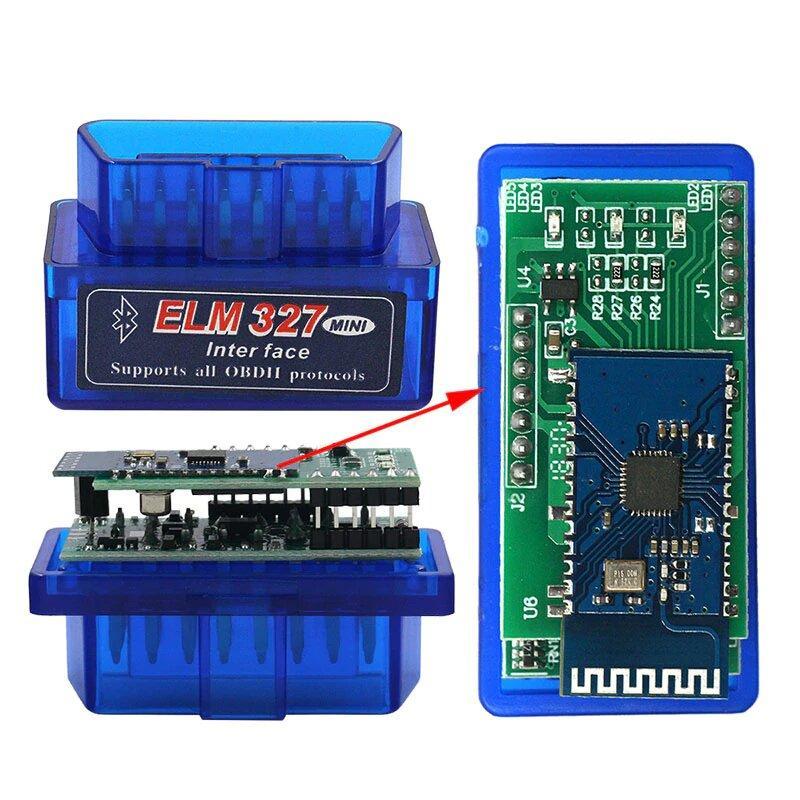 Универсальный автосканер ELM327 OBD2 V1.5 Bluetooth чип 2PCB PIC18F25K80 (2 платы)