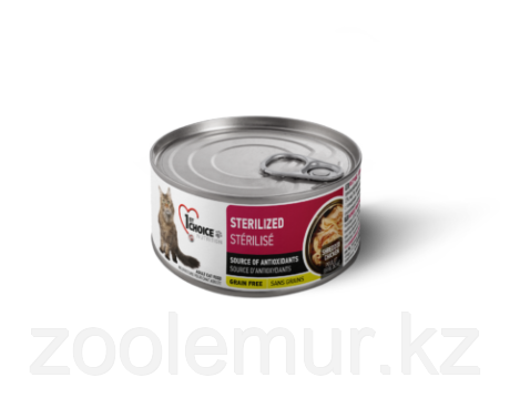 1st Choice консервы для кошек Sterilized, КУРИЦА с САРДИНАМИ  85гр