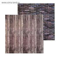 Фотофон двусторонний «Кирпич доски», 45 × 45 см, переплётный картон, 980 г/м