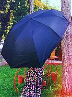 Зонт кривой , черный