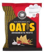 БГ Чипсы овсяные со вкусом песто аррабьята 150 г, т. м. Oatis (пакет) Oat snacks pesto arrabiata Oatis 150 g