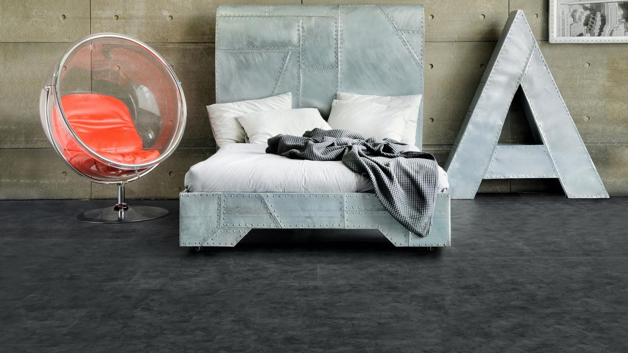 Кварц-виниловая плитка Alpine Floor ECO 8-3 Скол обсидиана