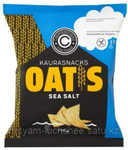 БГ  Чипсы овсяные с морской солью 150 г, т. м. Oatis (пакет) Oat snacks with sea salt 150 g