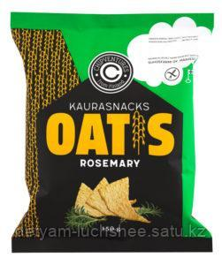 БГ  Чипсы овсяные с розмарином 150 г, т. м. Oatis (пакет) Oat snacks rosemary Oatis 150 g