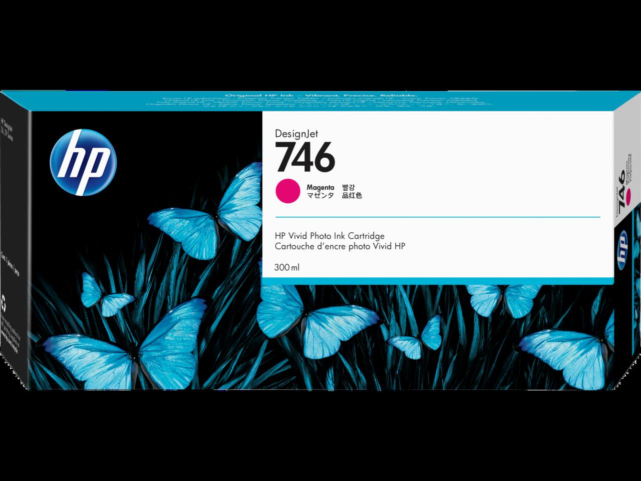 HP P2V78A Картридж пурпурный HP 746 для DesignJet Z6/Z9+, 300 мл