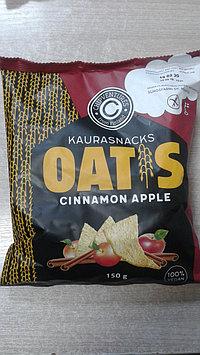 Безглютеновые овсяные чипсы с корицей и яблоком,150 грамм
