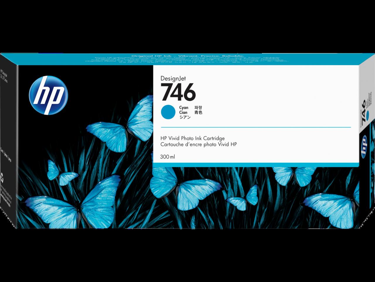 HP P2V80A Картридж пурпурный HP 746 для DesignJet Z6/Z9+, 300 мл