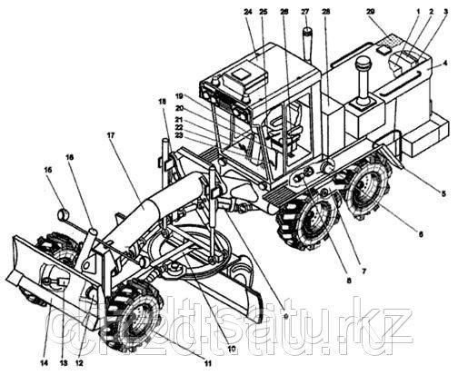 Электропроводка на автогрейдер ДЗ-98