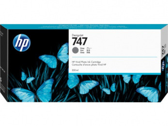 HP P2V86A Картридж серый HP 747 для DesignJet Z9+, 300 мл