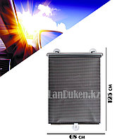 Солнцезащитные выдвижные автомобильные занавески на присосках 68 х 125 см черные