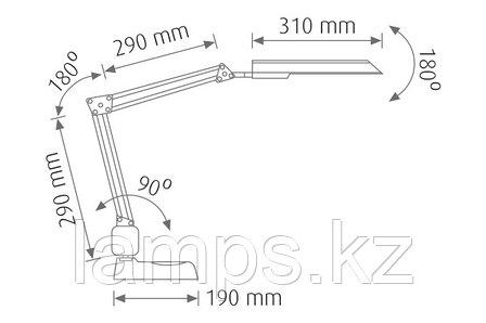 Настольная лампа FLEX-69/PL.G23/SLV, фото 2