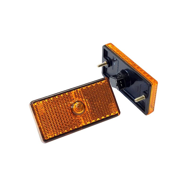 Фонарь габарит. боковой Г-3310,3302,ПАЗ (12В, евроразъем, лампа б/ц)
