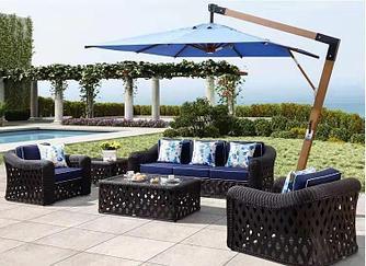 Зонт Wood Lux, 3х3м, квадратный (бежевый, бордовый, синий)