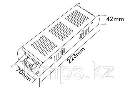 Тонкие блоки питания PS250-S/250W/12VDC/IP21, фото 2
