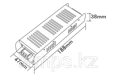 Тонкие блоки питания PS120-S/120W/12VDC/IP21, фото 2