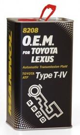Трансмиссионное масло MANNOL O.E.M. 8208 в АКПП для TOYOTA LEXUS 4L