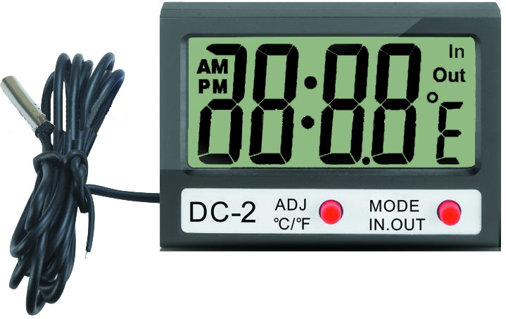 Термометр 70-0505 электронный, комнатно-уличный с часами, REXANT