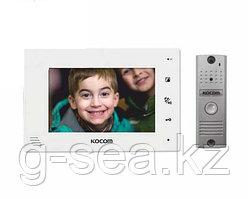 Комплект видеодомофона KOCOM KCV-A374W+KC-MC20