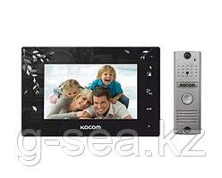 Комплект видеодомофона KOCOM KCV-A374LE(B)+KC-MC20