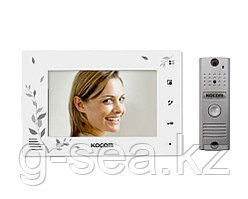 Комплект видеодомофона KOCOM KCV-A374SD+KC-MC20(W)