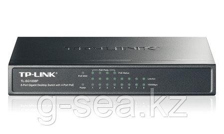 Коммутатор, TP-Link, TL-SF1008P, 8 портов (4 порта с PoE) 10/100M RJ45, PoE